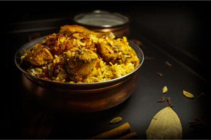Chicken Biryani with Raita